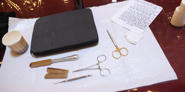 Instruments used in the Jewish circumcision ceremony (file picture)