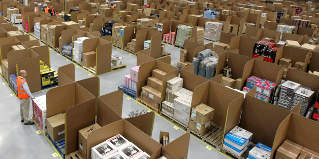 General view of the Amazon UK new one million square-foot fulfilment centre in Fife.