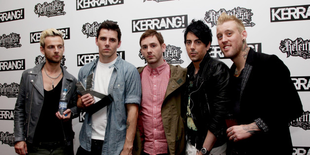File photo dated 29/07/10 of mmbers of Lostprophets (from the left) Lee Gaze, Stuart Richardson, Mike Lewis, Ian Watkins and Luke Johnson.