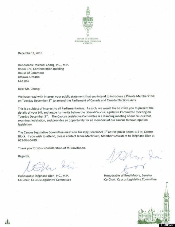 Liberals invite tory mp michael chong to discuss reform bill liberal letter chong stopboris Gallery