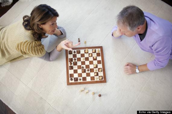 man woman board game