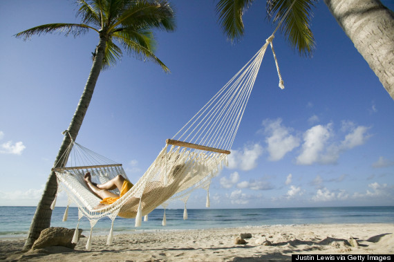 woman swinging in hammock