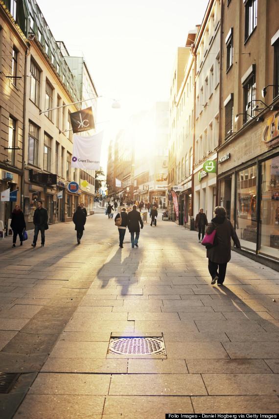 traveler walking city