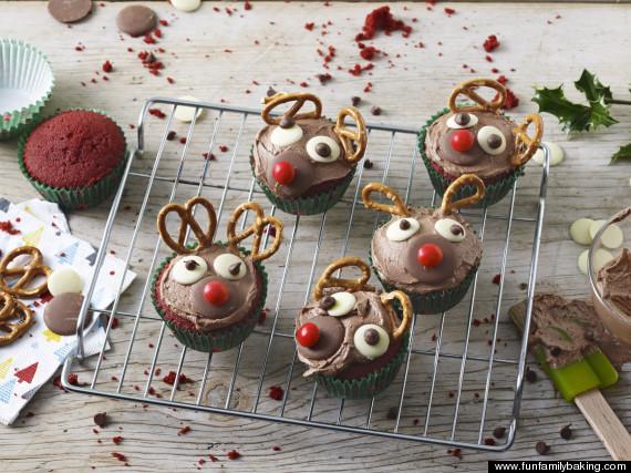 rudolf red velvet cupcake