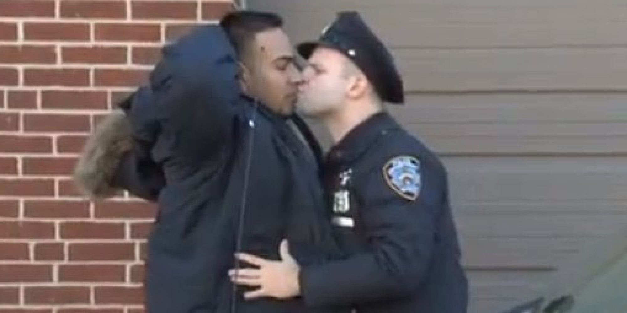 Gay kiss confused