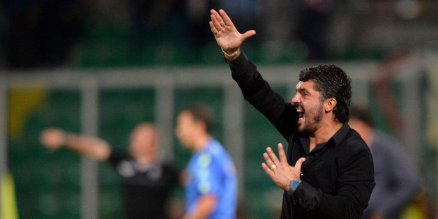 PALERMO, ITALY - SEPTEMBER 13:  Coach Gennaro Gattuso of Palermo issues instructions during the Serie B match between US Citta di Palermo and AC Cesena at Stadio Renzo Barbera on September 13, 2013 in Palermo, Italy.  (Photo by Tullio M. Puglia/Getty Images)