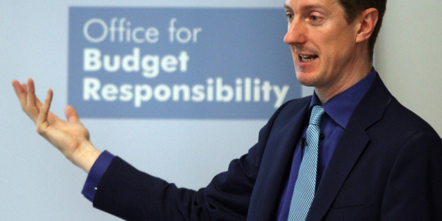 Office for Budget Responsibility (OBR) chairman Robert Chote speaks at a press conference at the Institute for Government, London, as the organisation publishes its first Fiscal Sustainability report.