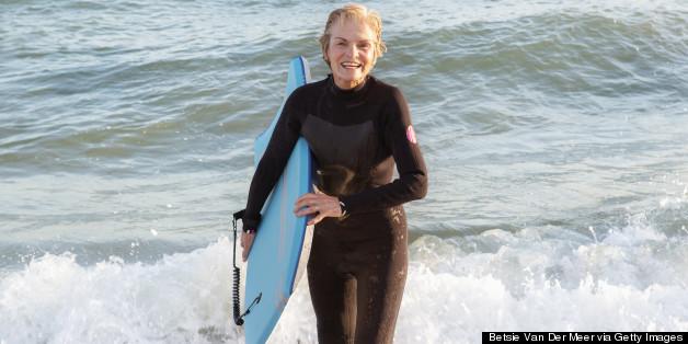 old woman ocean
