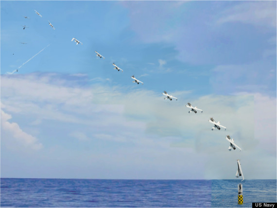 US Navy Launches Drone From A Submarine