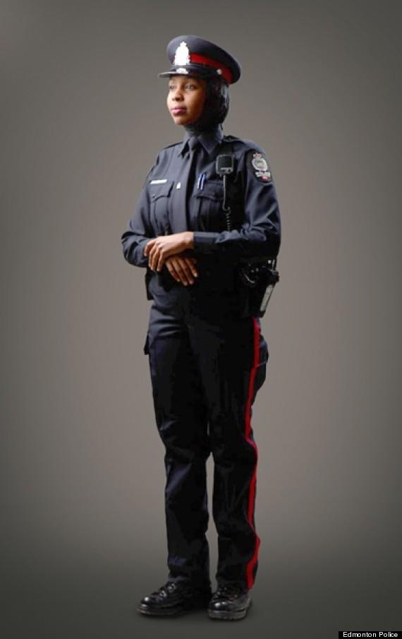 edmonton police hijab unfirom