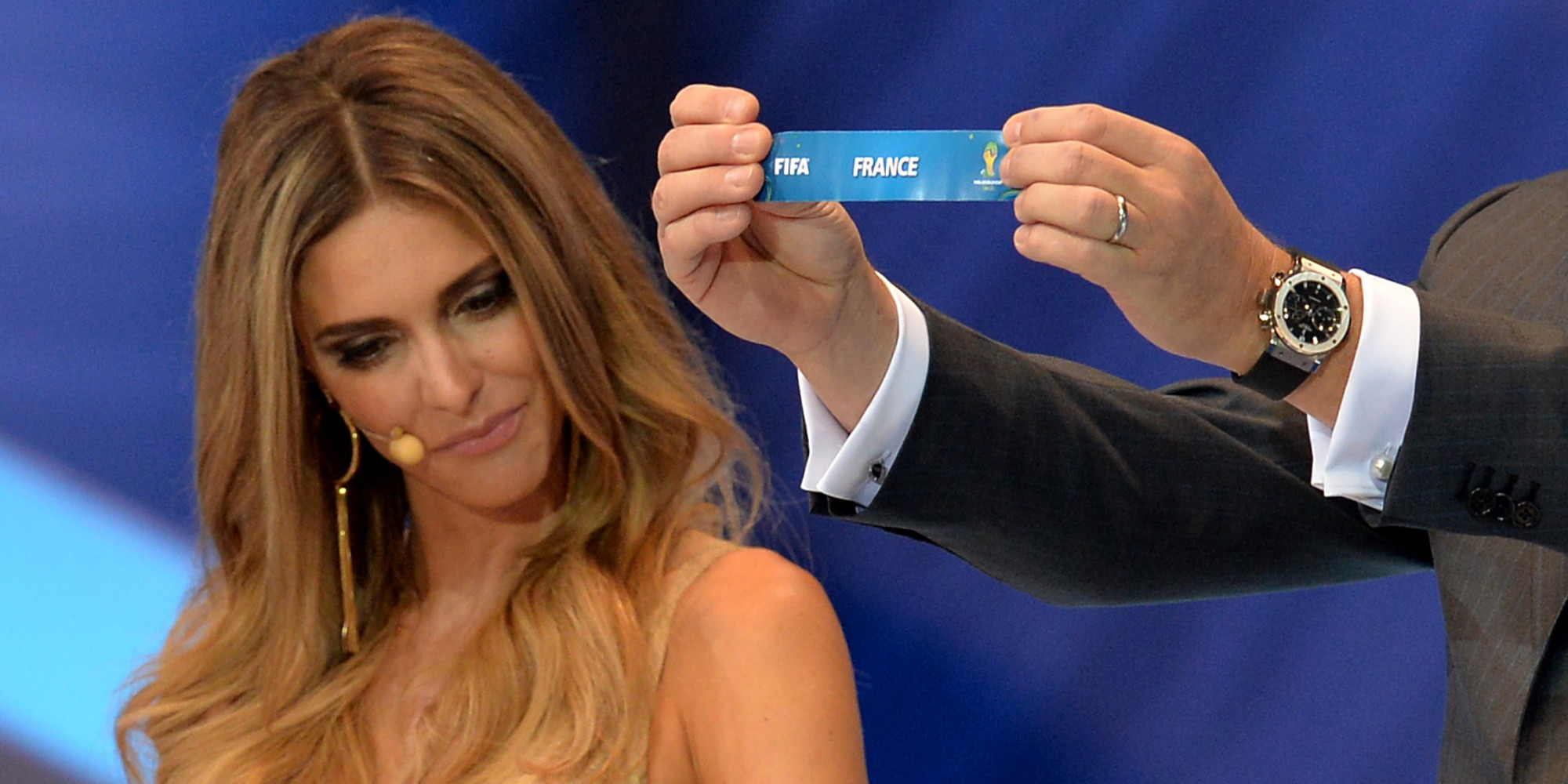 Fernanda Lima Distracts Soccer Fans During World Cup Draw ...