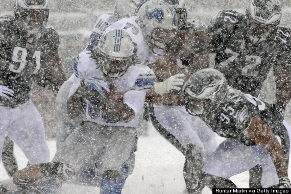 detroit lions philadelphia eagles snow