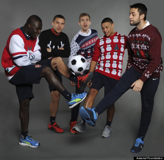 arsenal christmas jumpers