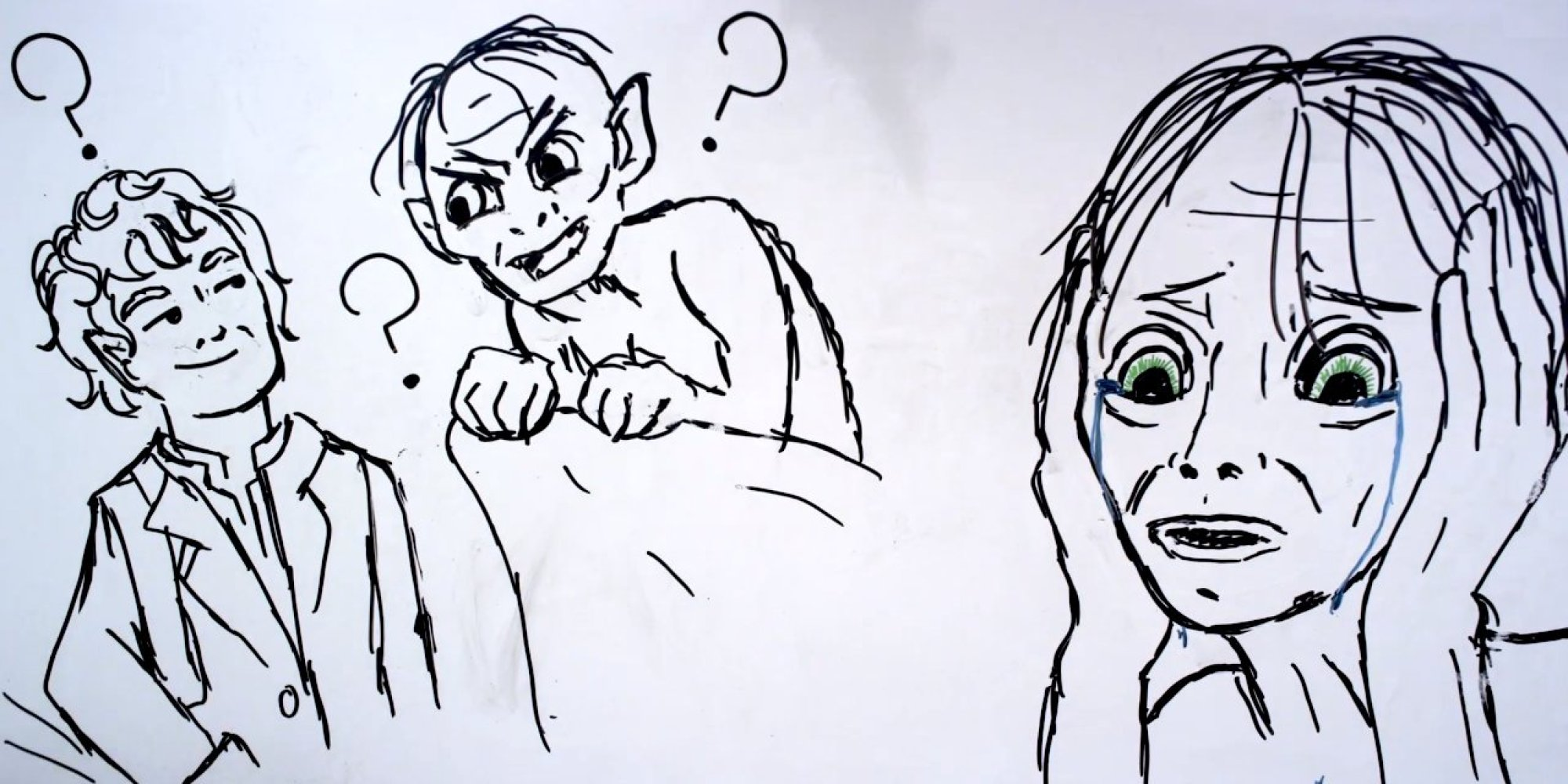 gollum gets more animated than usual in latest draw my life huffpost