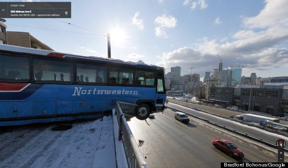 'Google Street View' Picture Of Seattle Bus Crash Is Not Quite What It Seems