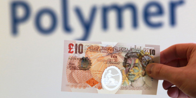 LONDON, UNITED KINGDOM - SEPTEMBER 10:  In this photo illustration, a sample Polymer ten pound British banknote is held during a news conference at the Bank of England on September 10, 2013 in London, England.  Bank of England Deputy Governor Charlie Bean, said: 'Polymer banknotes are cleaner, more secure and more durable than paper notes. However, the Bank of England would print notes on polymer only if we were persuaded that the public would continue to have confidence in, and be comfortable w