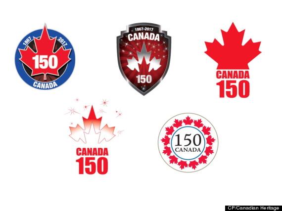 canada 150th birthday logos