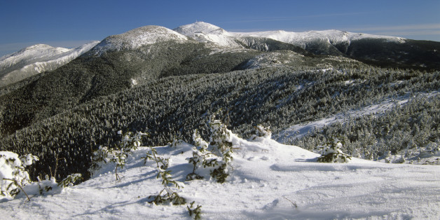 Scenic landscape of the Southern Presidential Range, which is located in the White Mountain National Forest of New Hampshire. New research suggests that in some areas like this forest, cutting down trees could provide a net benefit on climate change.