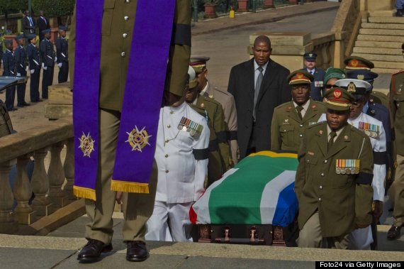 mandela coffin