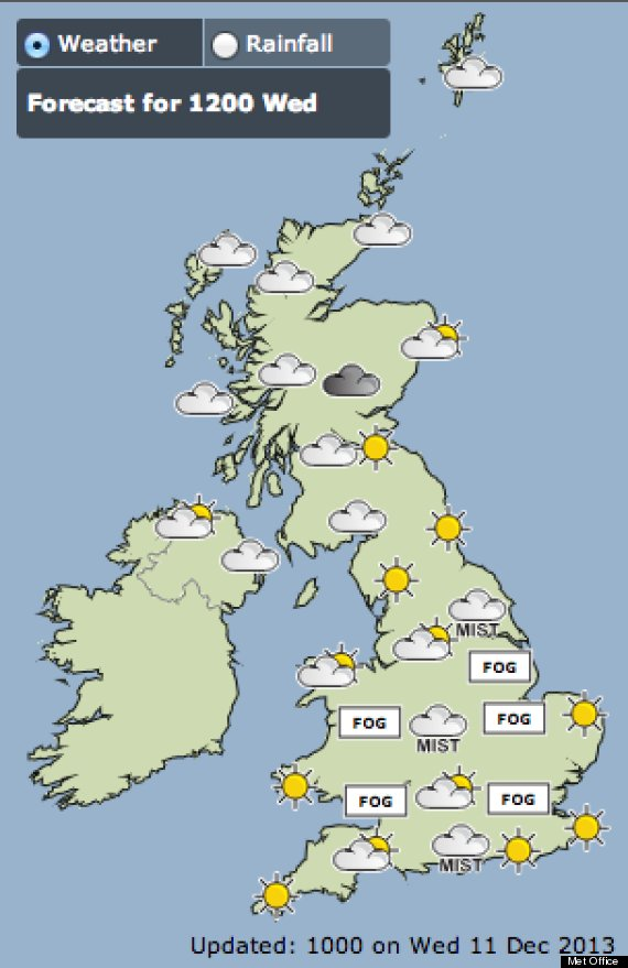 met office fog map
