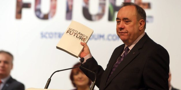 Scottish First Minister Alex Salmond during the Scotland's Future stakeholder engagement event at the EICC, Edinburgh.