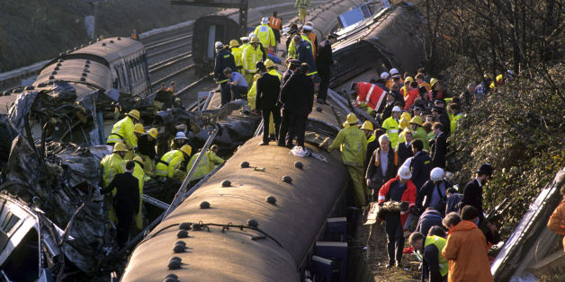 File photo dated 12/12/88 of the scene near Clapham Junction, London as the Clapham rail disaster of December 1988 remains the worst mainline train crash in terms of fatalities in the last 56 years.