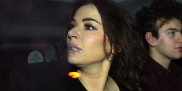 TV cook Nigella Lawson leaving Isleworth Crown Court in west London, after giving evidence in the case two of her former personal assistants, Elisabetta and Francesca Grillo, who are accused of committed fraud by abusing their positions as PAs by using a company credit card for personal gain.