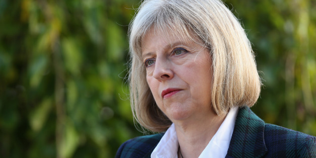 Home Secretary Theresa May is interviewed after addressing The College of Policing Conference in Bramshill near Hook, Hampshire.