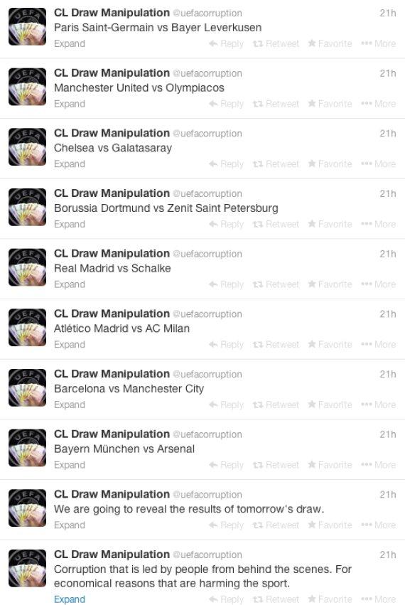 champions league draw manipulation