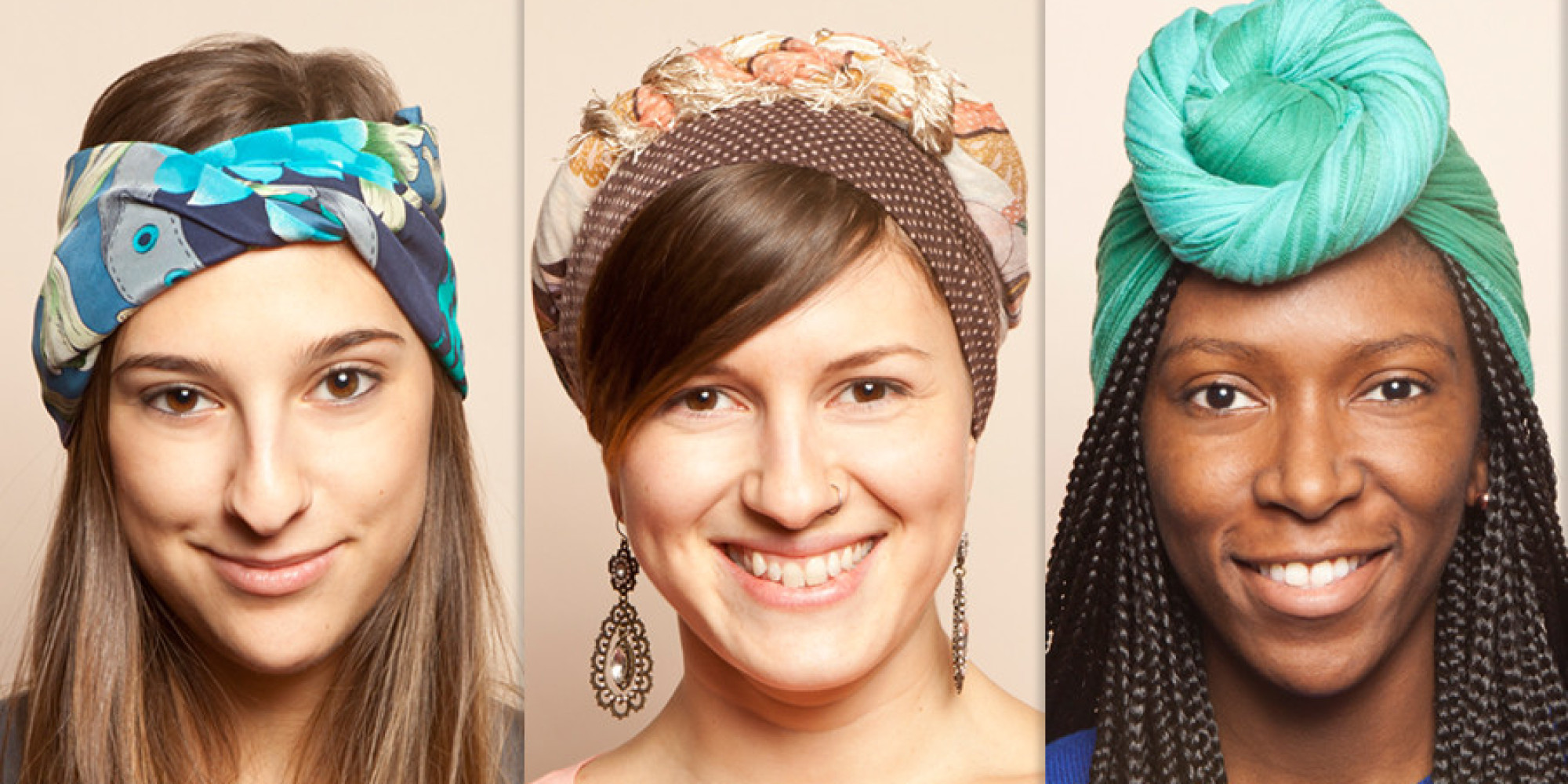 3 Ways To Tie A Head Scarf Explained In GIFs