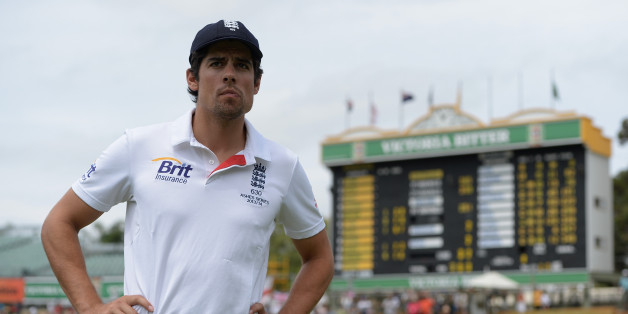 PERTH, AUSTRALIA - DECEMBER 17:  England captain Alastair Cook after losing the Third Ashes Test Match between Australia and England at WACA on December 17, 2013 in Perth, Australia.  (Photo by Gareth Copley/Getty Images)