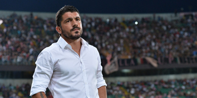 PALERMO, ITALY - AUGUST 17:  Coach Gennaro Gattuso of Palermo looks on during the TIM Cup match between US Citta di Palermo and Hellas Verona at Stadio Renzo Barbera on August 17, 2013 in Palermo, Italy.  (Photo by Tullio M. Puglia/Getty Images)