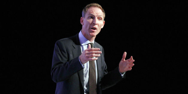 Shadow defence secretary Jim Murphy, on stage at Manchester Central during the second day of the Labour Party Conference in Manchester.