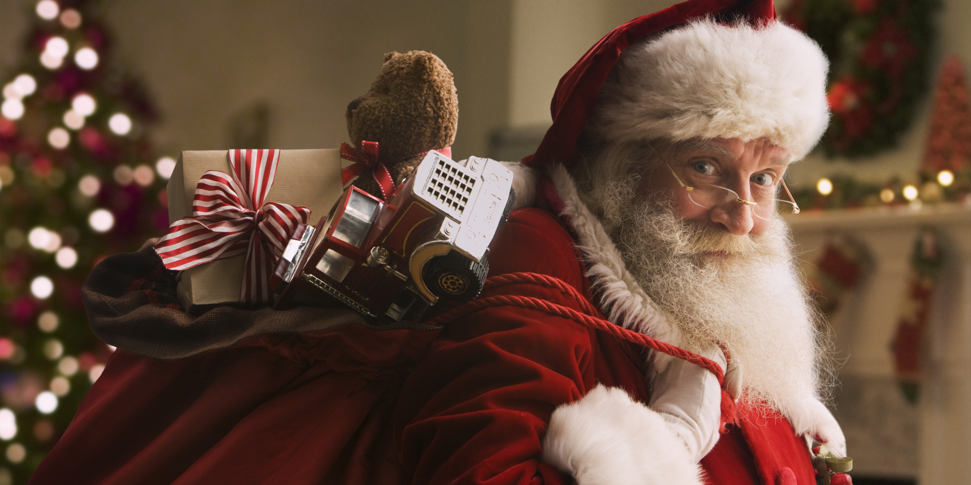 a letter to santa huffpost - Santa Claus With Presents