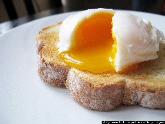 bread poached egg