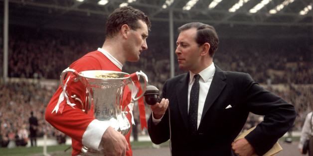Coleman interviews Manchester United's victorious captain Noel Cantwell, at the 1963 FA Cup Final