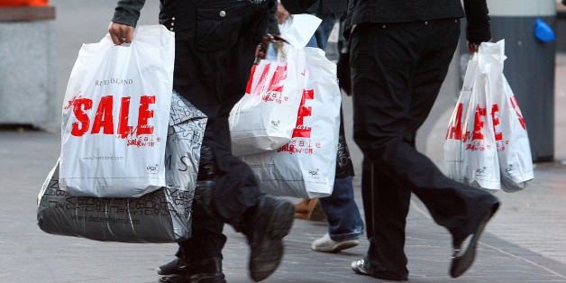 Shoppers in Liverpool city centre on Boxing Day as the seasonal sales get underway.