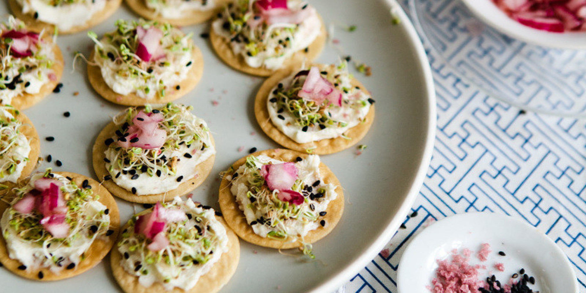 27 gorgeous celebratory canap recipes huffpost for Gourmet canape ideas