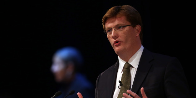 Chief Secretary to the Treasury Danny Alexander gives his speech to the Liberal Democrat party members at their conference in Glasgow.