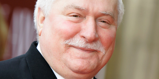 Lech Walesa arrives at Mikhail Gorbachev's 80th Birthday Gala at the Royal Albert Hall in London on March 30,2011.