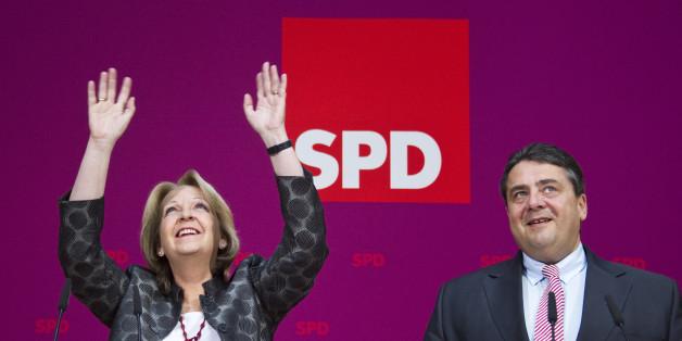 Grund zur Freude? SPD-Politiker Hannelore Kraft und Sigmar Gabriel