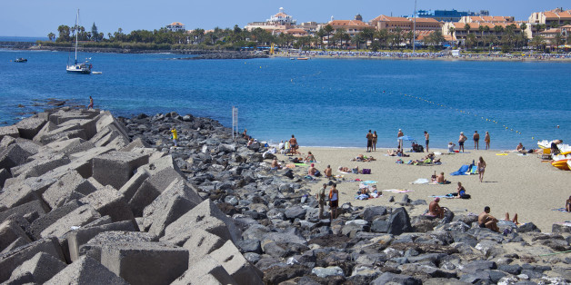 TENERIFE, SPAIN - MARCH 25: Wave breakers and artificial reefs at the  beach of Los Cristianos, Costa Adeje on March 25, 2011 in Tenerife, Spain. Tenerife is the biggest of the canary islands and because of its warm climate and vulcanic landscape an all year long holiday destination. Tenerife is home of Spains highest mountain Pico del Teide (3718 m). (Photo by EyesWideOpen/Getty Images)