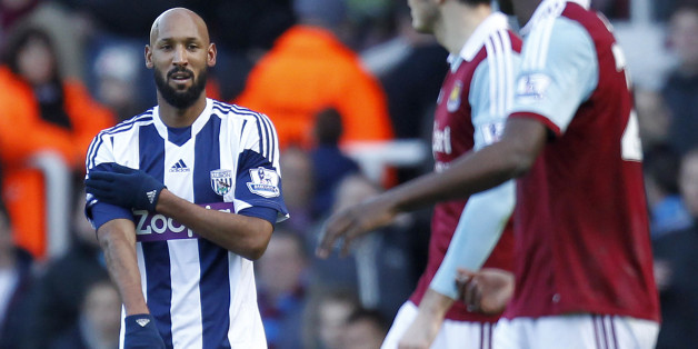 The FA are investigating Anelka's celebration at West Ham last month