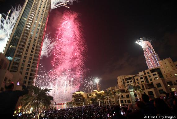 dubai new years fireworks