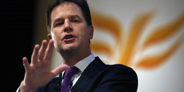 "File photo dated 18/09/13 of Liberal Democrat leader Nick Clegg who has accused the Tories of failing to enforce ""basic standards"" in schools as he dramatically disowned key planks of the coalition's education policy."