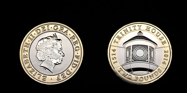 A new £2 coin featuring Trinity House which will go into circulation on 1st January 2014 at the Royal Mint in Pontyclun, Wales.