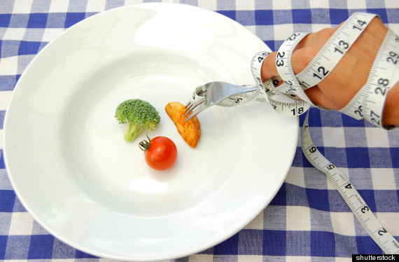 woman diet plate