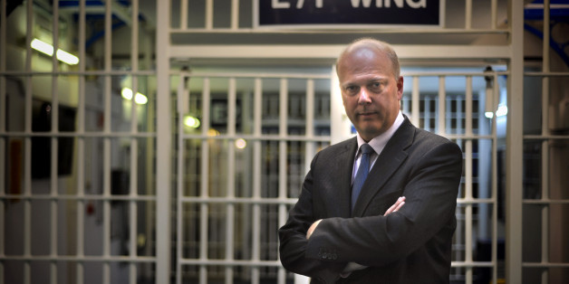 Embargoed until 0001 Tuesday 30th April. Justice Secretary Chris Grayling during a visit to Pentonville Prison with Prisons Minister Jeremy Wright (not pictured) ahead of announcing the outcome of a review into prison perks.