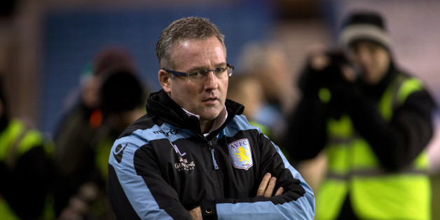 LONDON, ENGLAND - JANUARY 25: Paul Lambert, manager of Aston Villa, looks dejected during the FA Cup Fourth Round match between Millwall and Aston Villa, at The Den on January 25, 2013 in London, England. (Photo by Neville Williams/Aston Villa FC via Getty Images)