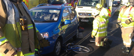 cyclist trapped
